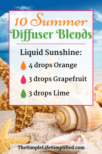 10 Fun Summer Diffuser Blends