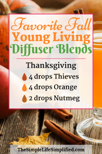 Fall Young Living Diffuser Blends